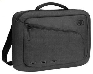 Image of small grey latop messenger bag.