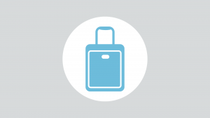 One Bag Travel - Blue Suitcase Icon
